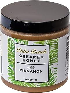 Palm Beach Creamed Honey with Cinnamon, Naturally Flavored Honey, Small-Batch Honey, 12 Ounces