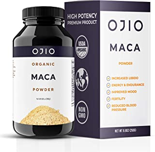 Sponsored Ad - Ojio Certified Organic Maca Root Powder - Premium Grade Peruvian Root Superfood - Gluten Free, Non-GMO, USD...