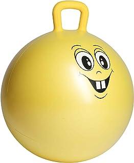 Ultrasport Pelota saltarina,de goma, de juego,robusto balón para niños a partir de 3 años,con asa y diseño, cara graciosa,...