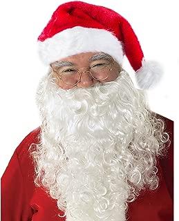 Funny Party Hats Santa Hats with Beard - Cowboy Santa Hat with Beard - Santa Beard - Santa Costume