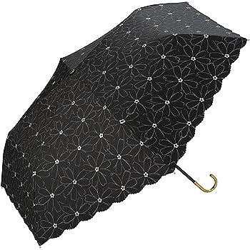 ワールドパーティー(Wpc.) 日傘 折りたたみ傘  ブラック 黒  50cm  レディース 傘袋付き 遮光マーガレットレース ミニ 801-278 BK