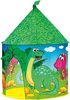 Bino & Mertens 82813 Bino lektält dinosaurie, leksak från 3 år (dinosaurietält av PES-material, enkel rengöring, barnrumsd...