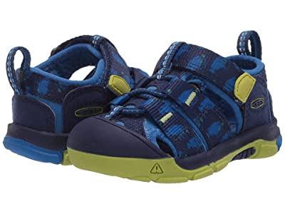 Keen Kids Newport H2 (Toddler) (Blue Depths/Chartreuse) Boys Shoes