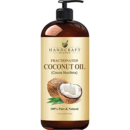 Fractionated Coconut Oil – 100% Pure & Natural Premium Therapeutic Grade - Coconut Carrier Oil for Essential Oils, Massage, Moisturizing for Skin & Hair, Great for Dogs – 16 fl. oz