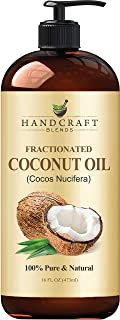 Fractionated Coconut Oil – 100% Pure & Natural Premium Therapeutic Grade - Coconut Carrier Oil for Essentia...