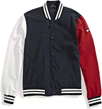 Tommy Hilfiger Men's Adaptive Baseball Jacket with Magnetic Buttons