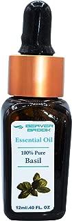 Beaver Brook Basil Essential Oil-100% Pure & Therapeutic Grade for Aromatherapy, Relaxation, Steamer, Massage, Sleep, Positive Mood, Meditation & Yoga, Perfumery, Baths, Hair Care, Saunas - 12ml