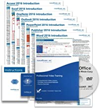 $49 » Microsoft Office 2016 DELUXE Training Tutorial Course- Video Lessons, PDF Instruction Manuals, Printed and Laminated Quick Reference Guide, Testing Materials, and Certificate of Completions