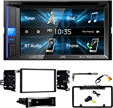 Double-DIN Multimedia Bluetooth Receiver, 99-2011 Dash Kit for Select 1990-2012 GM Vehicles, Antenna Adapter, Enrock Rearview Waterproof Camera