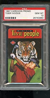 1997 Cardwon Promo Taiwan Tiger Woods Golf Time People ROOKIE Card 10 Graded - PSA/DNA Certified - Autographed Golf Cards