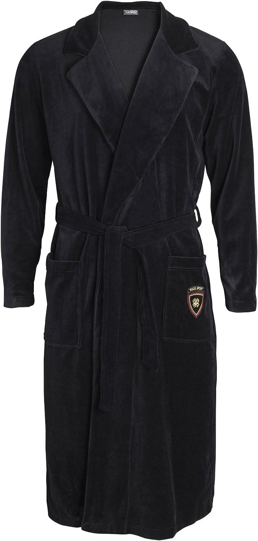 Mens Robe Velour- Kimono Popular Mail order standard Spa Collar with Shawl Long Bathrobe