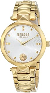 Versus by Versace Women's Covent Garden Quartz Watch with Stainless-Steel Strap, Gold (Model: SCD110016)