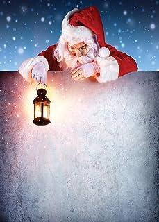 LYWYGG CP 197 0609 Weihnachts /Schnee /Nacht Hintergrund mit Weihnachtsmann Motiv, 1,8 x 2,7 m