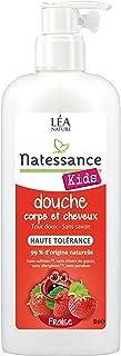 Natessance Kids - Gel de Ducha de fresa para cuerpo y cabello, sin sulfatos, 500ml