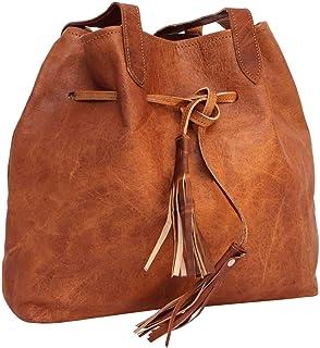 Gusti Sac Cabas Cuir - Phoebe Sac à Main cuir véritable sac cabas vintage femmes sac grand format marron sac à main bohème...