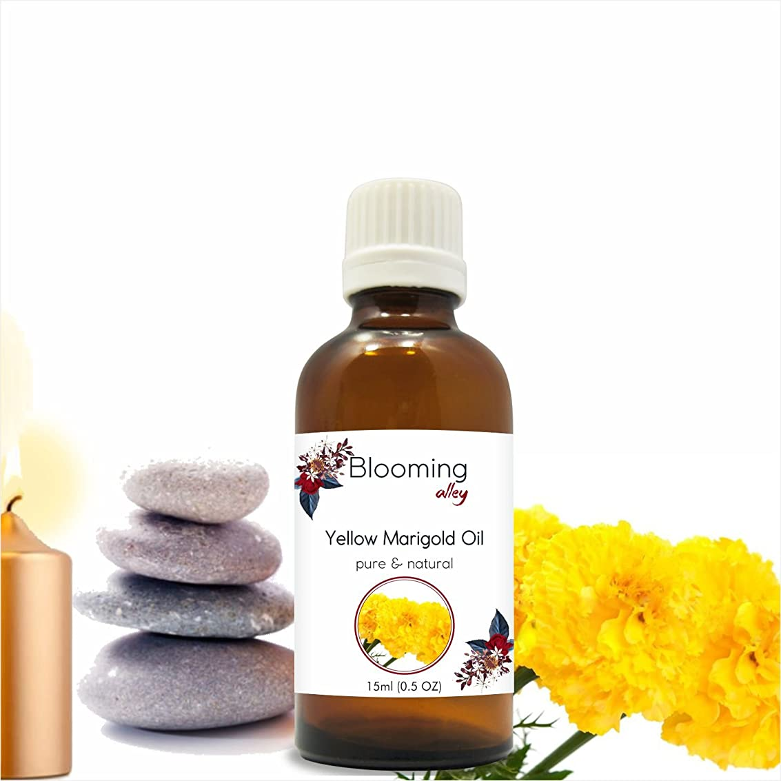 自動車数学省略するYellowmarigold Oil(Calendula Officinalis) Essential Oil 15 ml or .50 Fl Oz by Blooming Alley