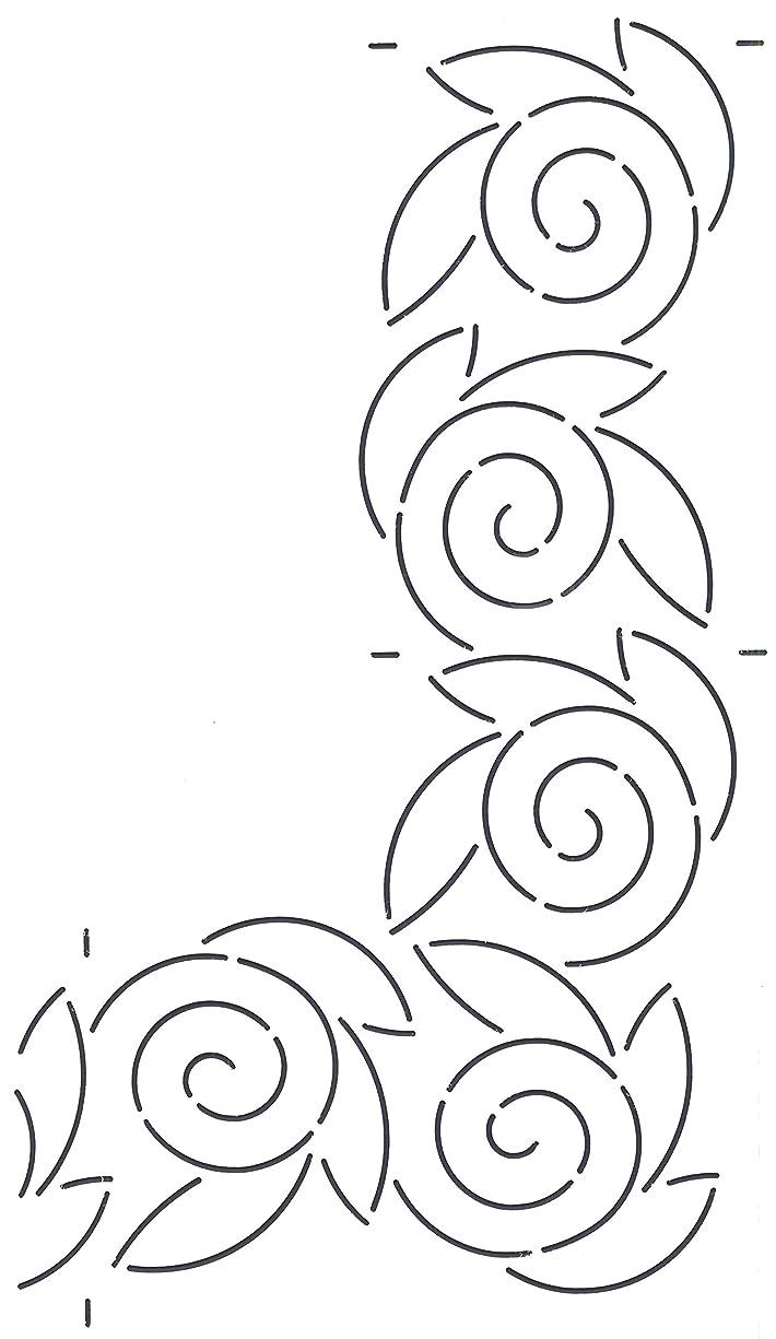 Golden Threads Swirl Border Quilt Stencil