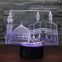 3D Illusion Night Light bluetooth smart Control 7&16M Color Mobile App Led Vision Temple Castle USB Bedroom Office Decoration Desk Table Child colorful Creative gift