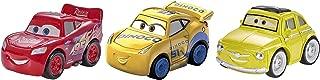 Disney Pixar Cars Mini Racers Vehicles, 3 Pack - McQueen, Luigi, Cruz Storm Exclusive