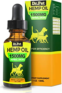 Dr. Pet Hemp Oil for Dogs and Cats | Stress & Anxiety...