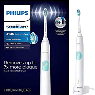 Phillips Sonicare Sonicare ProtectiveClean Removes up to 7x More Plaque, Long lasting 4 day Battery Life Rechargeable Electric Toothbrush, White/Grey