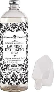 Florence de Dampierre 64 Load, Organic and All-Natural Savon de Marseille Soap, Liquid Laundry Detergent, 32 oz. - Unscented