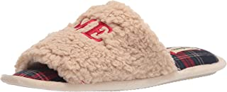 Dearfoams Lane Giftable Holiday Slide With Novelty Sayings Applique womens Slipper