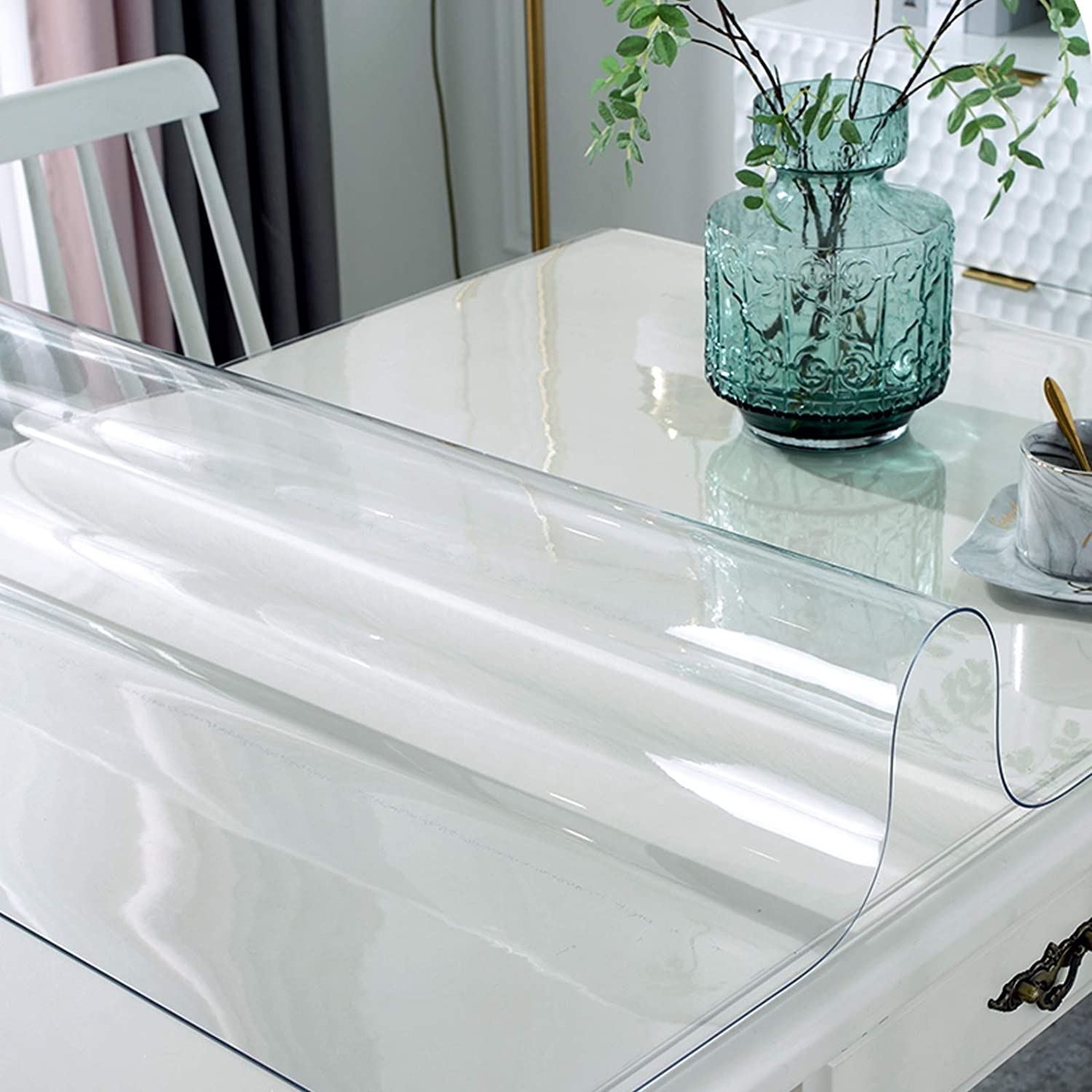 High quality new Geovne Crystal Clear Max 88% OFF Table Protector Clean Easy Plastic to