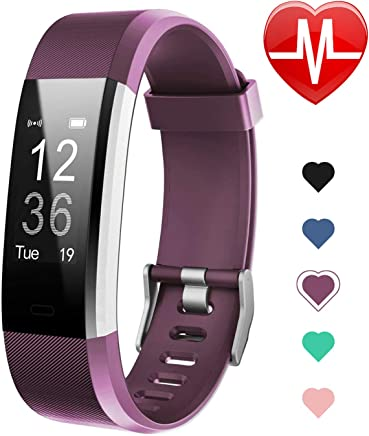 Letsfit Fitness Tracker HR, Activity Tracker Watch with Heart Rate Monitor, IP67 Water Resistant Smart Bracelet with Calorie Counter Pedometer Watch for Kids Women and Men