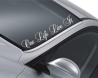 Low /& Slow Car Van Windscreen Decal Sticker JDM euro Lowered 17 Colours 550mm