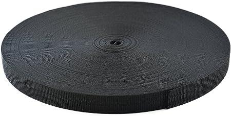 Schwarzer Nylon Gurtband Rucksackriemen 2 m lang 20 mm 25 mm 38 mm breit