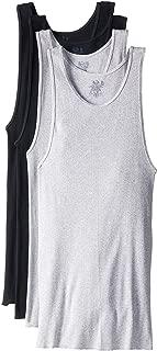 Men's A-Shirt (XXX-Large (54-56), Black/Gray)