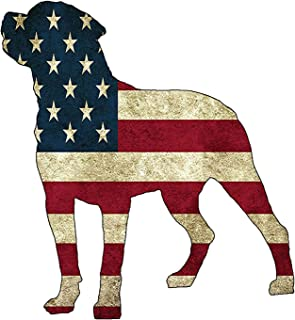 Rogue River Tactical USA Flag Dog Sticker Bumper Car Decal Gift Patriotic American Worn United States (4x5 Inch)