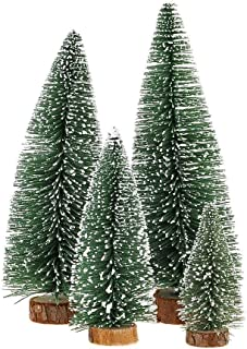 KKSHINE Desktop Miniature Pine Tree tabletop christmas tree small pine tree decor christmas tree toppers