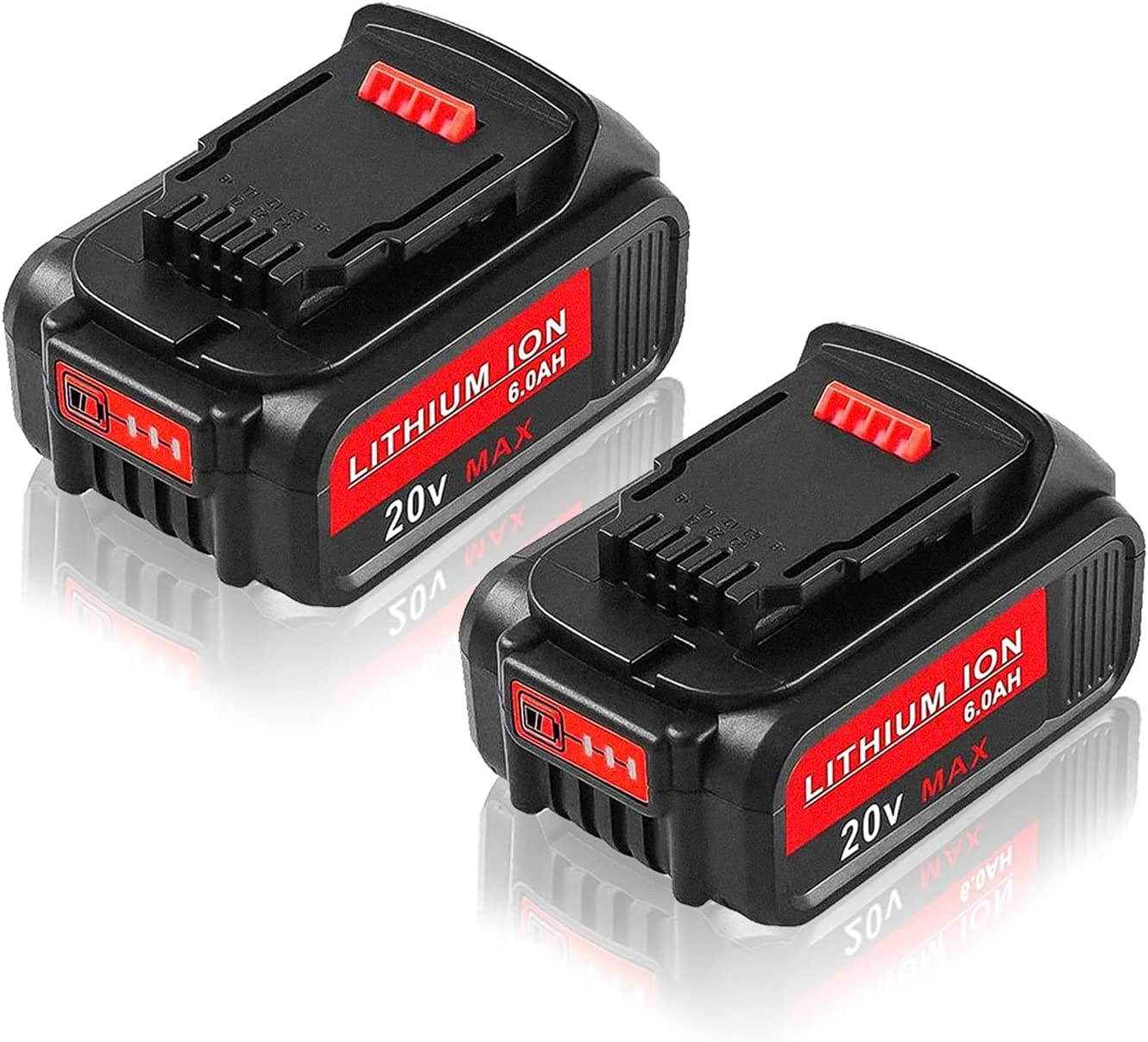 2PACK 6.0Ah Selling rankings DCB205 Max 78% OFF Battery Replacement MA for 20V Dewalt
