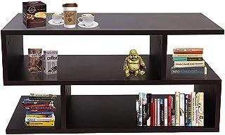 Klaxon S Shape Engineered Wood Coffee Table/Centre Table, Tea Table (Wenge)