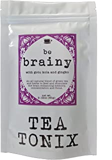 BE Brainy Tea for Mental Clarity with Gotu Kola, Hawthorn Berries, and Gingko 60g - to Help Enhance Memory, Concentration, and Focus