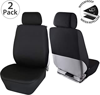 Elantrip Waterproof Neoprene Front Seat Covers Semi Back Universal Fit Water Repellent Bucket Car Seat Protector Airbag Compatible for Auto SUV Truck Van Black 2 PC