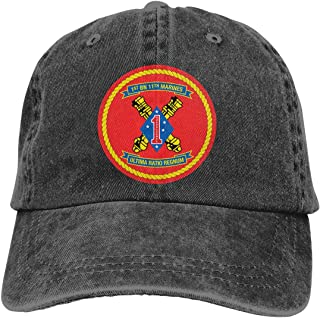 SLISL EIEI 1st Battalion 11th Marine Regiment Adjustable Baseball Caps Denim Hats Cowboy Sport Outdoor