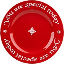 Waechtersbach 4251271903 You Are Special Today Plates, Giftboxed, Set of 3, Red…