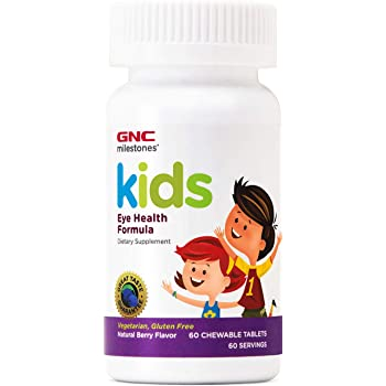 GNC Milestones Kids Eye Health Formula, 60 Chewable Tablets, Supports Eye and Vision Health