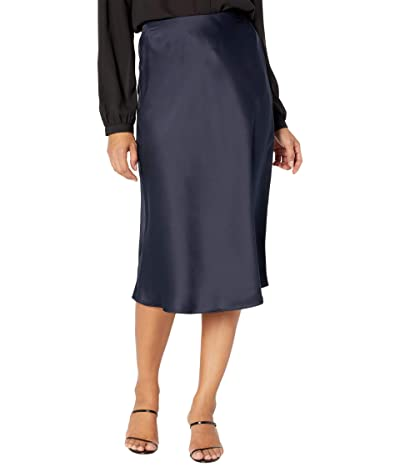 LAUREN Ralph Lauren Satin Skirt (Lauren Navy) Women