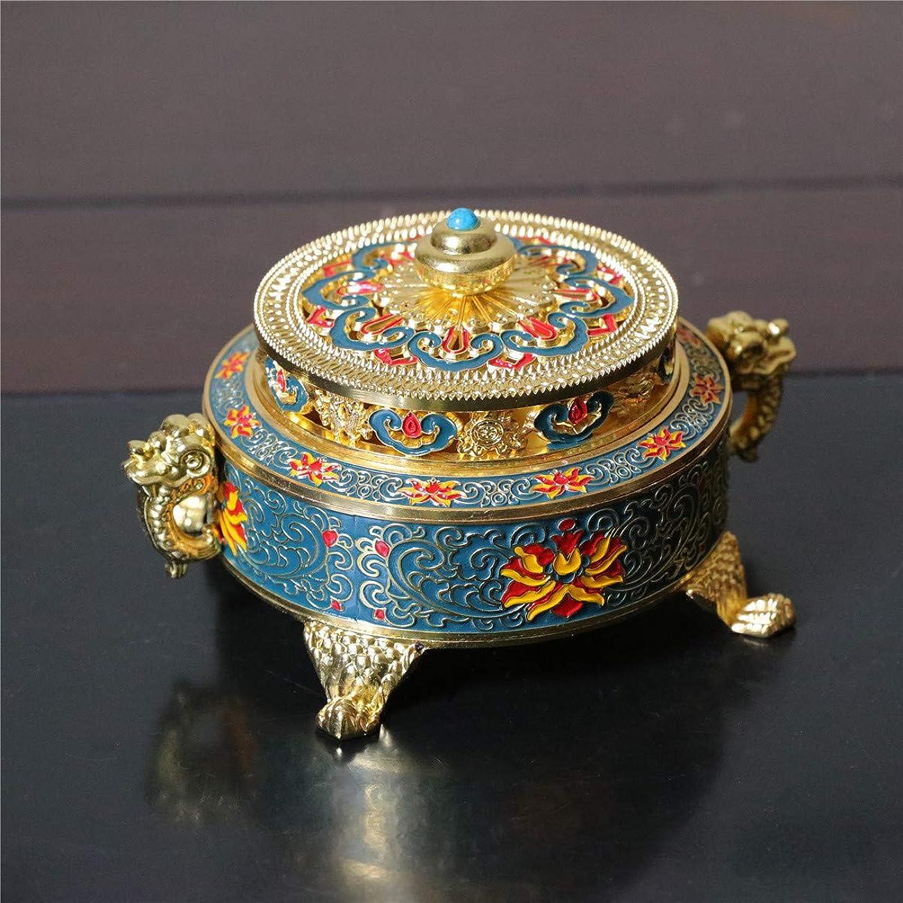 提案する言語異常PHILOGOD 香炉 美しく印刷渦巻き線香 香立て 仏壇用 香皿 (Blue Enamel)