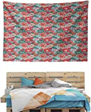 HuaWuChou Sketch Spring Season Tapestry King, Tapestry for Bedroom, 59W x 51.1L Inches