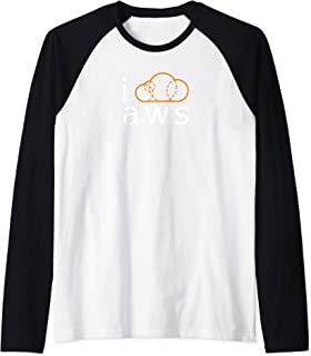 I Cloud AWS Microservices Guru Design Raglan Baseball Tee