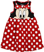 Disney Toddler Girls Minnie Face Dress, Red Polka Dot
