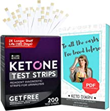 Keto Strips for Urine - Not a Ketone Blood Testing Strips - Measure and Get Fast Results - Ideal for Ketosis Diet, Diabetic, Low Carb Dieters - Pack of 200