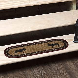 VHC Brands 34129 Rustic & Lodge Flooring-Cumberland Tan Oval Jute, Stair Tread, Almond