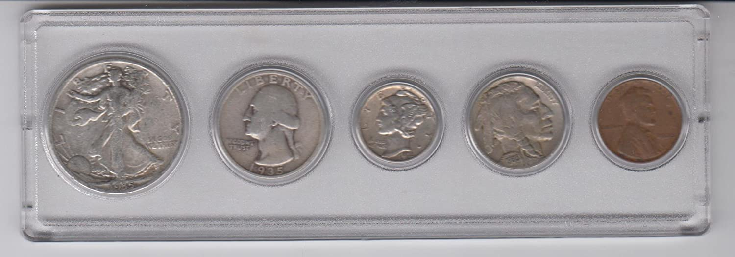 1935 Birth Year Coin Set 5 Half Quarter Dime New color N Special price Dollar Coins