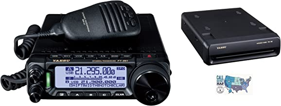 Radio and Accessory Bundle - 3 Items - Includes Yaesu FT-891 HF/6M Mobile Transceiver, FC-50 Automatic Antenna Tuner and Ham Guides TM Quick Reference Card